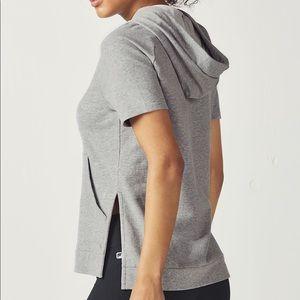 FABLETICS Size XL Hooded Short Sleeve Sweatshirt